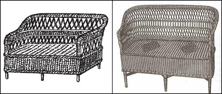 Делаем плетеный диван. Схема