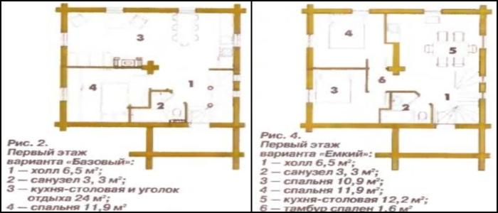 Высота подвала – 2,1-2,2 м.