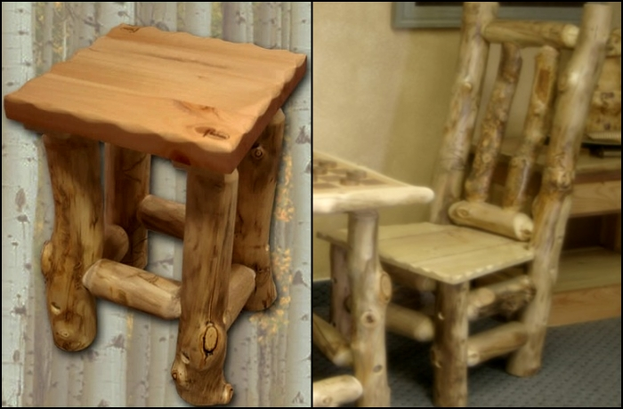 Мебель из брёвен видео
